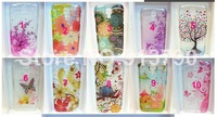 B254 For Samsung Galaxy S4 i9500, Cute butterfly floral flower prnts clear hard back case cover YF3 3043