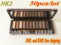 Christmas promotion- Nk-2 12 color eye shadow palette (50pcs/lot)DHL EMS Free shipping