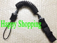 Elasticity pistol lanyard sling safe carrying belt loop Black