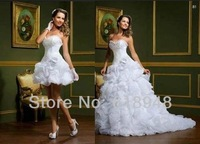 2013 Free Shipping Popular Elegant Sweetheart Two Pieces Lace Up Back Fashion Wedding Dresses Wholesale/Retail CM0350