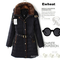 MB136 new winter models with big fur collar long down jacket collar