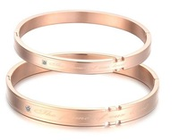 Quality rose gold lovers bracelet titanium hand ring Free shipping