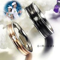Popular titanium lovers ring fashion finger ring
