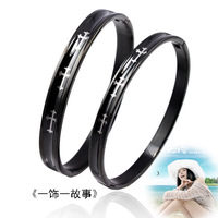 Black bracelet titanium cross bracelet lovers bracelet hot-selling bracelet e e  2pic