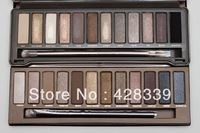 (60pcs/lot) New Makeup Nk1 and Nk2 Eyeshadow 12 Colors Palette Eye Shadow ! DHL EMS Free Shipping !