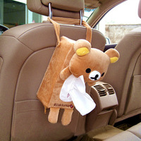 Car tissue box car in the car tissue box car hanging pumping paper box bear auto upholstery supplies cartoon