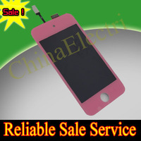 For ipod touch 4 4G pink LCD + touch digitizer assembly + home button