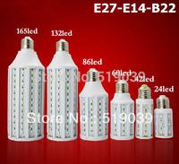 E27 E14 B22 SMD5730 LED Corn Light bulb 7W 10W 12W 15W 25W 30W 40W 50W White/Warm White 360 degress Spot Light Lamp AC110V/220V