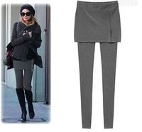 Winter 2013 ladies' fashion all-match new side chain bag hip slim plus velvet Leggings free shipping