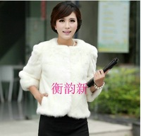 FREE SHIPPING Faux outerwear short design long-sleeve women's