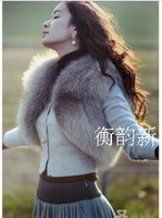 Fox fur vest outerwear autumn and winter short design vest sz women's  fur coat