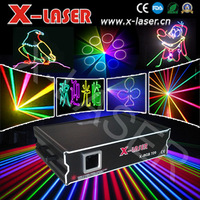 2W RGB Full Color Animation Laser Projector Stage Light DMX ILDA 25K Club disco dj with free flight case