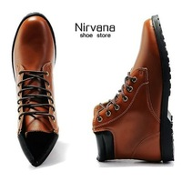 Boots high-top shoes cotton-padded shoes leather trend boots martin boots male boots fashion boots male boots