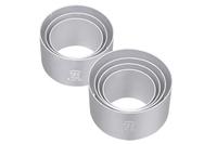 Hot free shipping Three utensils diy baking mould sn3740 circle mousse ring anode