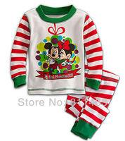 Retail / children boys girls long sleeve Christmas mickey minnie mouse  pajamas #X-019 / kids clothing set / baby sleepwear