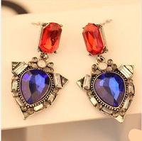 Min.order is $15 (mix order) 2013 Fashion jewelry,Artificial gem drop earrings for women,Vintage water drop earring gift E419