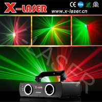 Double Heads Red & Green laser beam light DMX disco stage dj party club show