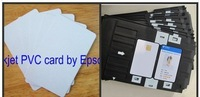 Blank Dual Side Inkjet Print ID cards 100pcs + card tray 1 pc