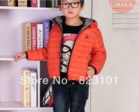Qiu dong outfit 2013 private hooded children down jacket baby leisure fashion children's wear winter coat