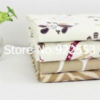 Free shipping 145cm Width Cotton flannel fabric fleece cotton baby bedding fabric children's clothing sanding