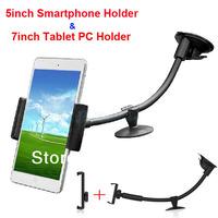 "Black Color Soft Pipe Adjustable Tablet PC Mobile Phone Car Windshield Dashboard Holder for 3.5"" - 7"" PAD MID PDA GPS Car Mount"