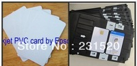 Blank Dual Side Inkjet Print ID cards 100pcs + card tray 1 pc for Epson Printer