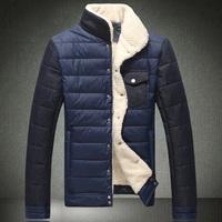 2013 winter wadded jacket plus size plus size cotton-padded jacket stand collar plus velvet thickening cotton-padded jacket