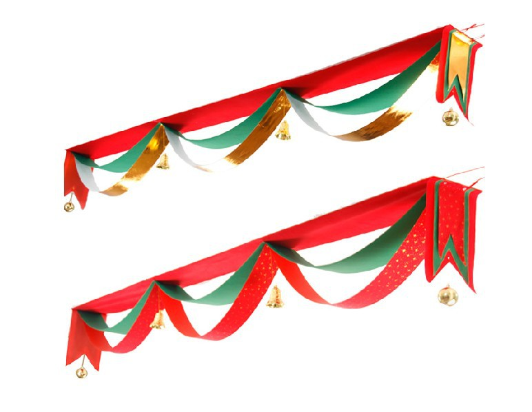Christmas decorations Christmas ornaments hanging decorative door wavy flag flag-waver, Christmas color bar (Size: 1 m)(China (Mainland))