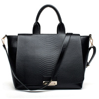 New arrival fashion snake skin pattern designer handbag high quality leather messenger bags for women