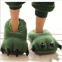 Plush cartoon dinosaur PAWS household slippers couples men's and women's cotton warm slippers