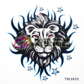 Tattoo stickers waterproof constellation lion tattoo stickers tm0855