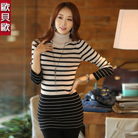 2013 autumn slim medium-long basic shirt sweater female sweater