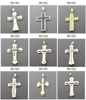wholesale  cross pendant necklace cheap price stainless steel matel jewelry  9 item cross for choose