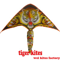 free shipping high quality lovely tiger kites10pcs/lot children kite flying with handle line toys hot wheels rod kite carbon
