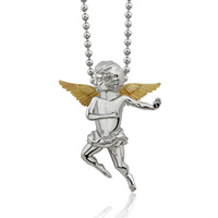 cute angle necklace 18K gold  wing  stainless steel  pendants for  women  and kind  PN-085