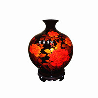 China Jingdezhen ceramics Ugyen red pomegranate crystal glaze vase peony modern and stylish home decor crafts