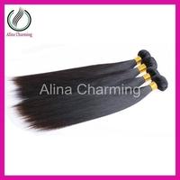 Alibaba express h&j queens brazilian hair weave bundles 2 or 3 pieces lot funmi silk straight 100g/pcs natural color hair