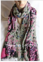 Fashion scarf 2013 Floral Pattern scarf Pashmina Shawl Scarf Wrap for Women charm scarf necklace beach towel