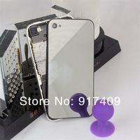 New Mirror Glass  Back Housing Cover for Apple iPhone 4 4G 4s Luxury Fashion Phone Battery Cover 1pcs Free Shipping