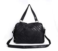 Free Shipping  2013 Unisex Fashion Classic Casual Big Bag Men/Women shoulder bag messenger bag travel bag Black Genuine leather