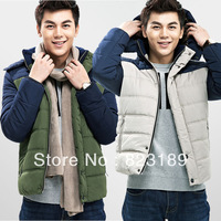 2013 winter new arrival male wadded jacket teenage removable cap thickening cotton-padded jacket coat