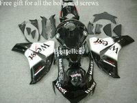 Complete fairing kit for Honda CBR1000RR 08 09 CBR 1000 RR 2008 2009 CBR1000 RR 2008 2009 with tank cover West Black White