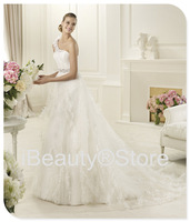 2014 new arrival vestido de noiva elegant design elie saab robe de mariage wedding dresses white brautkleid bridal gowns F60