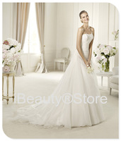 2014 new arrival vestido de noiva elegant design elie saab robe de mariage wedding dresses white brautkleid bridal gowns F71