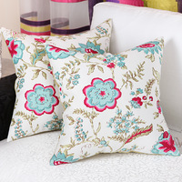 Free shipping   High quality popular  print flowers  sofa pillow & cushions for bed, car seat & chairs