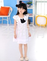 Girl's  cardigans coat+princess dress girl's cotton outwear dresses