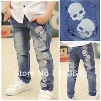 Free shipping 2013 new autumn hit qiu dong children trousers boy little ZhongTong han edition jeans trousers