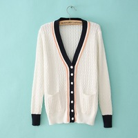 Free Naval Academy PatternsFashion Sweater Knit Cardigans Sweater Women Cardigan With Pocket