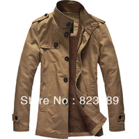 Erj men's clothing wadded jacket 2013 winter outerwear male cotton-padded jacket plus velvet thickening washed cotton male