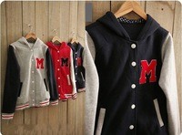 Best Selling!! Women thicken fleece baseball jacket Women cardigan Autumn outwear +free shipping